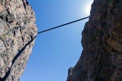 Bridge Crosses Above Canyon Royalty Free Stock Photography