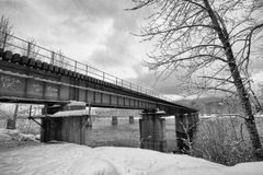 Bridge Crossing the Columbia River Stock Photography