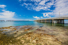 Bridge crossing Florida Keys Stock Photos