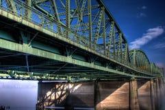 Bridge crossing river. Interstate Bridge crossing the Columbia River stock photos