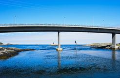 Bridge crossing a strait Stock Photo