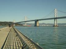Bridge crossing to oakland. View san francisco's landmark bay Royalty Free Stock Photography