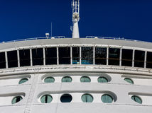 Bridge of Cruise Ship over Portholes Stock Photo
