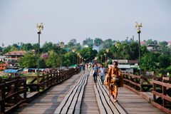 Bridge of culture, MON BRIDGE. MON BRIDGE in Sangkhlaburi,Kanchanaburi, Thailand Stock Image