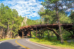 Bridge in Custer State Park Royalty Free Stock Images