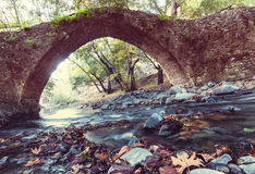 Bridge on Cyprus. Medieval Venetian bridge in Cyprus Royalty Free Stock Photo