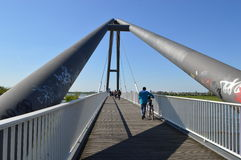 Bridge in düsseldorf Royalty Free Stock Images