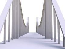 Bridge 3d model Royalty Free Stock Images