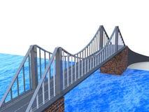 Bridge 3d model Royalty Free Stock Photo