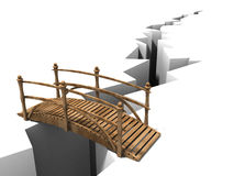 The Bridge. A 3d rendering imagine of a bridge across crack of background Stock Photo