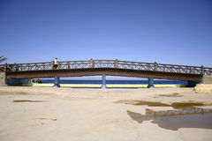 Bridge in dahab, red sea Stock Photo