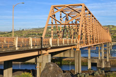 The bridge of the Dalles Oregon. Bridge crossings at the Dalles Oreon state Stock Photography