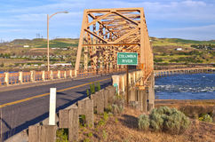 The bridge of the Dalles Oregon. Royalty Free Stock Photography