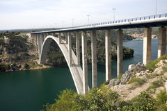 bridge dalmatia Royaltyfri Foto