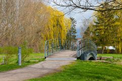 Bridge in a Danish park. In town of Sakskoebing Royalty Free Stock Photos