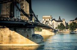 Bridge on the Danube river Royalty Free Stock Photos