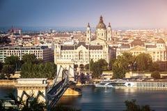 Bridge on the Danube river Stock Image