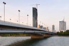 Bridge on the Danube Stock Images
