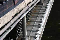 A bridge. Dark water. Royalty Free Stock Photos
