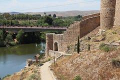 Bridge de la Cava, Toledo photos libres de droits