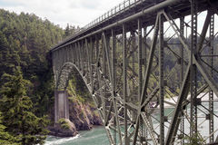 The bridge at Deception Pass. Washington, USA stock image