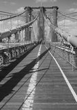 Bridge Deck B&W Stock Images