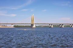 Bridge with decorative elements, city Kasan Royalty Free Stock Image