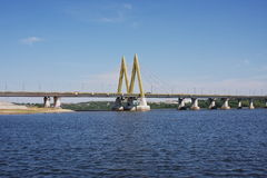 Bridge with decorative elements, city Kasan Stock Photo
