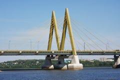 Bridge with decorative elements, city Kasan Stock Image