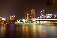 bridge den guangzhou haizhuen Royaltyfri Fotografi
