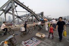 bridge den guangzhou haizhuen Fotografering för Bildbyråer