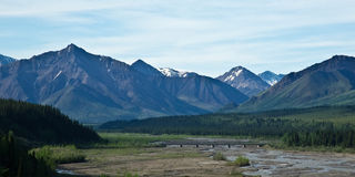 Bridge in Denali Park Royalty Free Stock Photos
