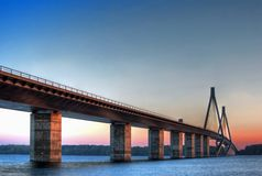 Bridge in Denmark Stock Photography
