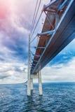 The bridge. Denmark, Sweden, Oresundsbron Royalty Free Stock Photography