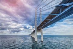 The bridge. Denmark, Sweden, Oresundsbron Stock Photo