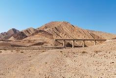 Bridge in the desert. Near the Large Crater (Makhtesh Gadol) in Israel's Negev desert Stock Photos