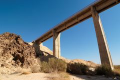 Bridge in the desert Stock Image