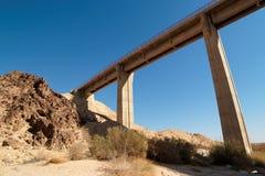 Bridge in the desert. Near the Large Crater (Makhtesh Gadol) in Israel's Negev desert Stock Image