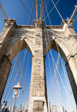 bridge det brooklyn tornet Fotografering för Bildbyråer