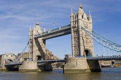 bridge det england london tornet Royaltyfria Foton