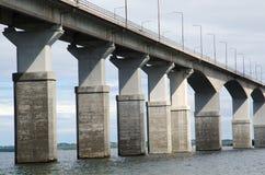Bridge detail. Olandbridge, construction of concrete columns Royalty Free Stock Images