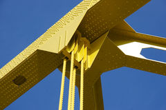 Bridge Detail. Detail of Yellow Bridge Royalty Free Stock Photo