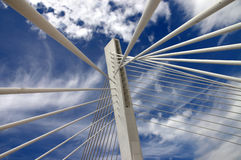 Bridge detail 58. Detail of the bridge millenium Royalty Free Stock Image