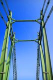 Bridge detail with geometrical metal structure Stock Image