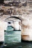Bridge detail over the Seine in Paris Royalty Free Stock Photos