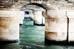 Bridge detail over the Seine in Paris Royalty Free Stock Photography