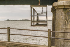 Bridge Detail View ar Santa Lucia River in Montevideo Uruguay Royalty Free Stock Photos