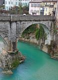 Bridge of Devil on the NATISONE River that crosses the city of C Royalty Free Stock Image