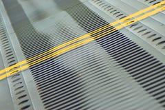 Bridge Dilatation Compensator. Steel Bridge Dilatation Compensator in winter Royalty Free Stock Photos
