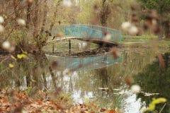 Bridge. Displaying bridge in autumn bet Royalty Free Stock Photography